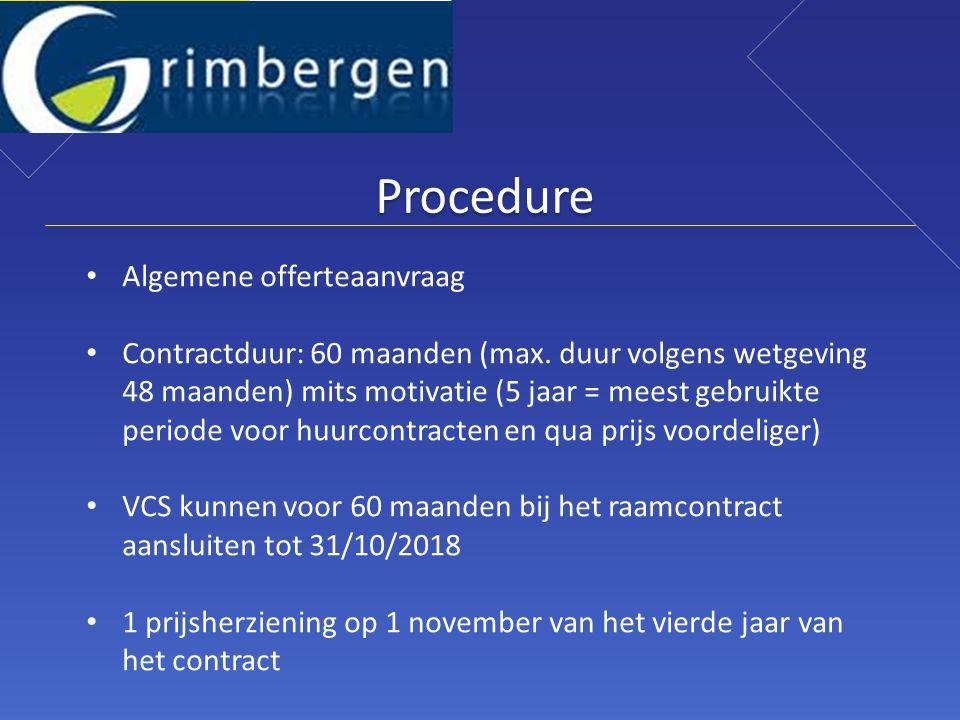 Procedure Algemene offerteaanvraag