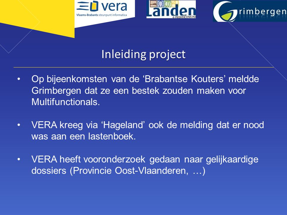 Adviescomité IT Noord Inleiding project.