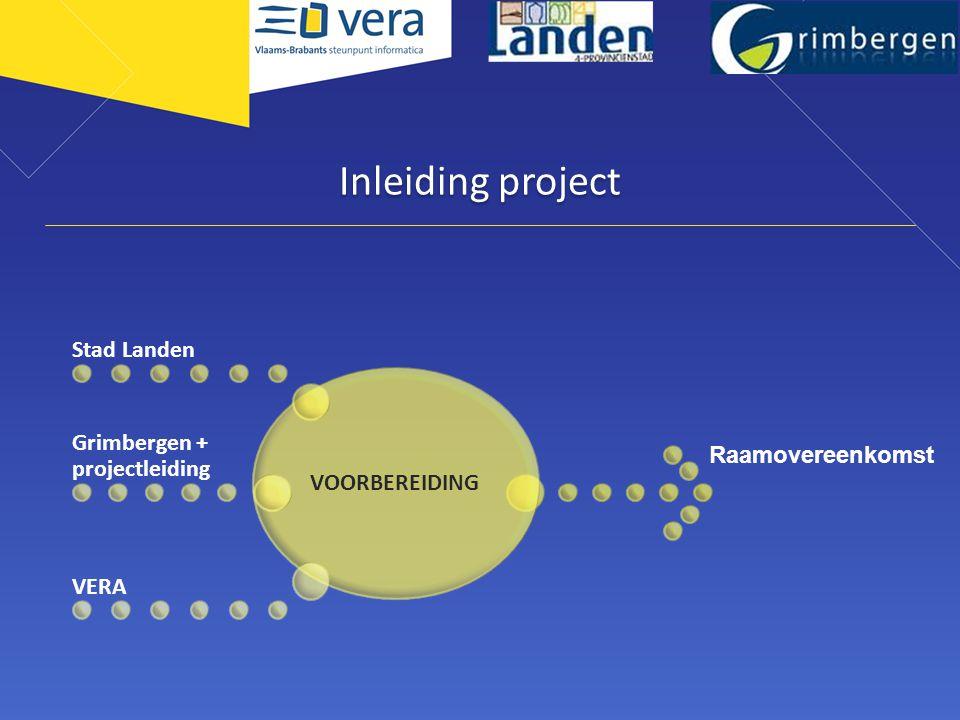 Inleiding project Grimbergen + projectleiding VOORBEREIDING
