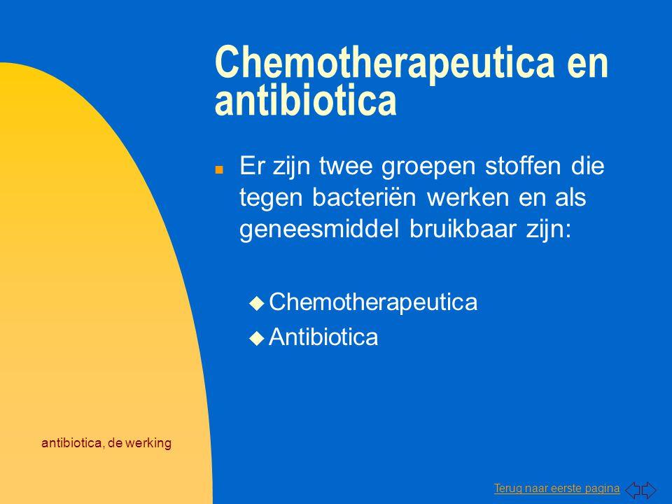 Chemotherapeutica en antibiotica