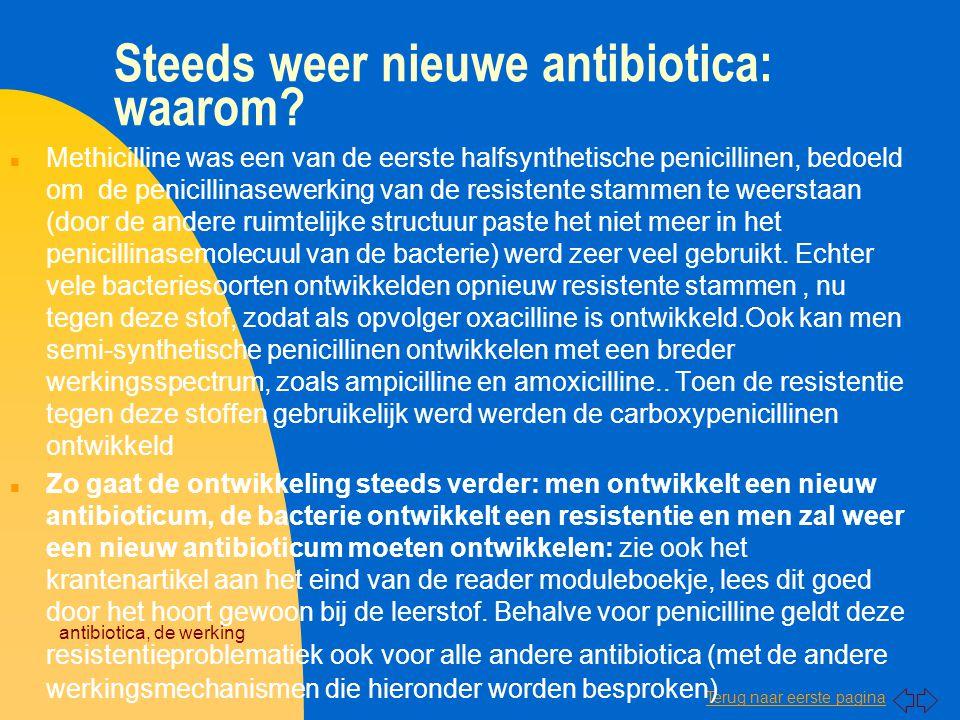 Steeds weer nieuwe antibiotica: waarom