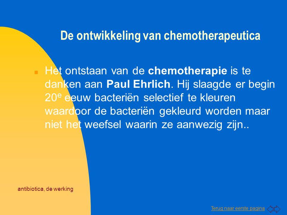 De ontwikkeling van chemotherapeutica