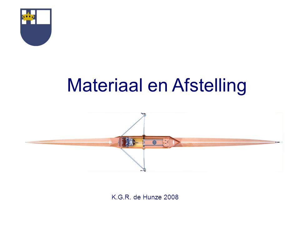 Materiaal en Afstelling