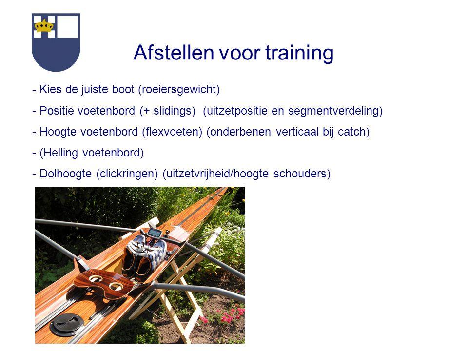 Afstellen voor training