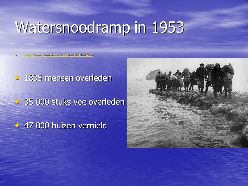 Watersnoodramp in mensen overleden