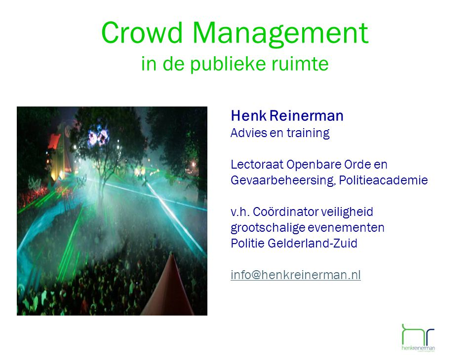 Crowd Management in de publieke ruimte