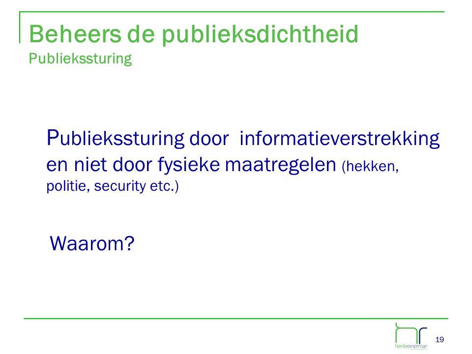 Beheers de publieksdichtheid Publiekssturing