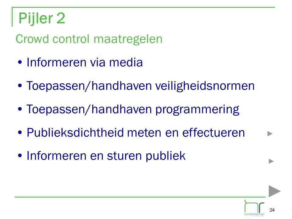Pijler 2 Crowd control maatregelen Informeren via media