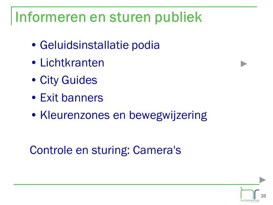 Informeren en sturen publiek