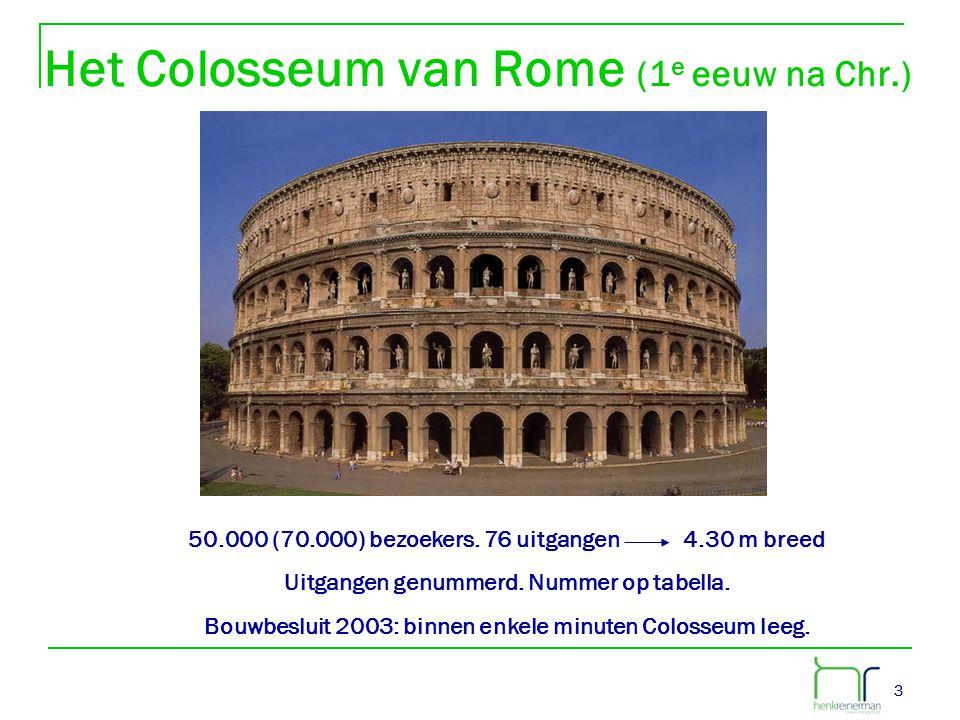 Het Colosseum van Rome (1e eeuw na Chr.)