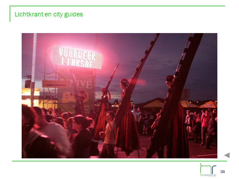 Lichtkrant en city guides