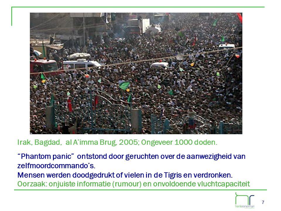 Irak, Bagdad, al A'imma Brug, 2005; Ongeveer 1000 doden.