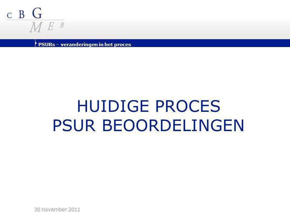 HUIDIGE PROCES PSUR BEOORDELINGEN 30 november 2011