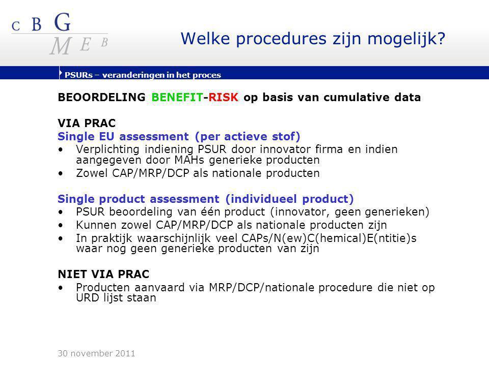 Welke procedures zijn mogelijk