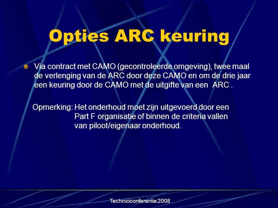 Opties ARC keuring