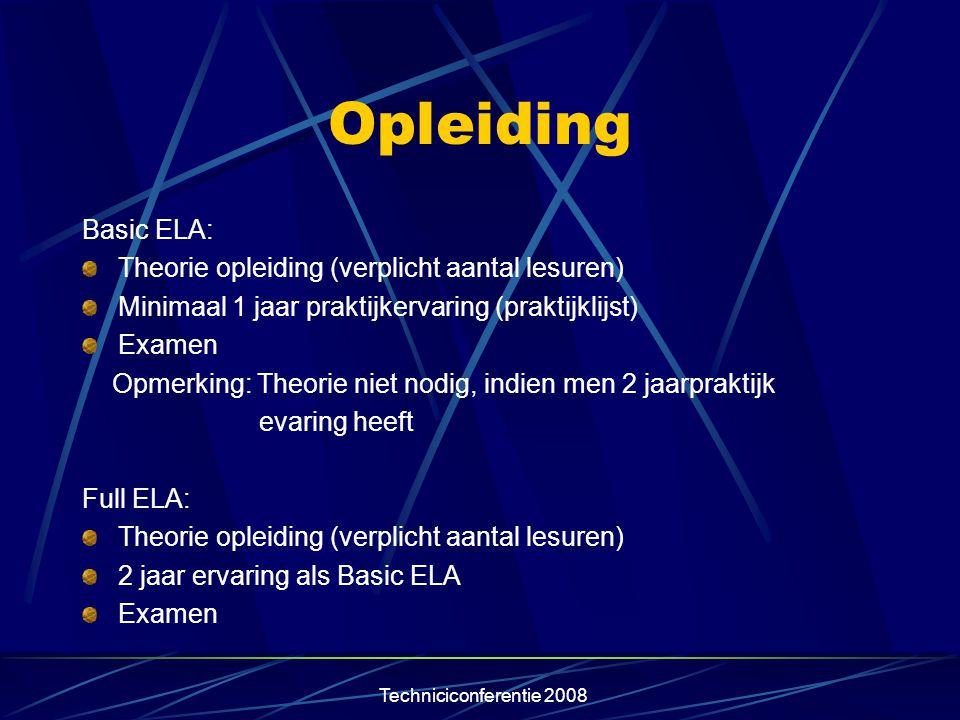 Opleiding Basic ELA: Theorie opleiding (verplicht aantal lesuren)