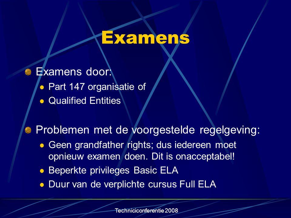 Examens Examens door: Problemen met de voorgestelde regelgeving: