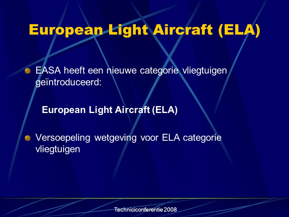European Light Aircraft (ELA)