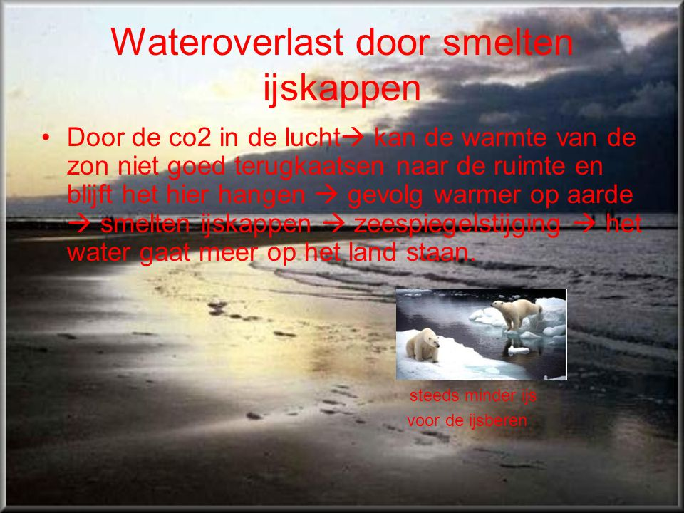 Wateroverlast door smelten ijskappen