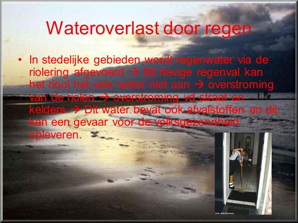 Wateroverlast door regen