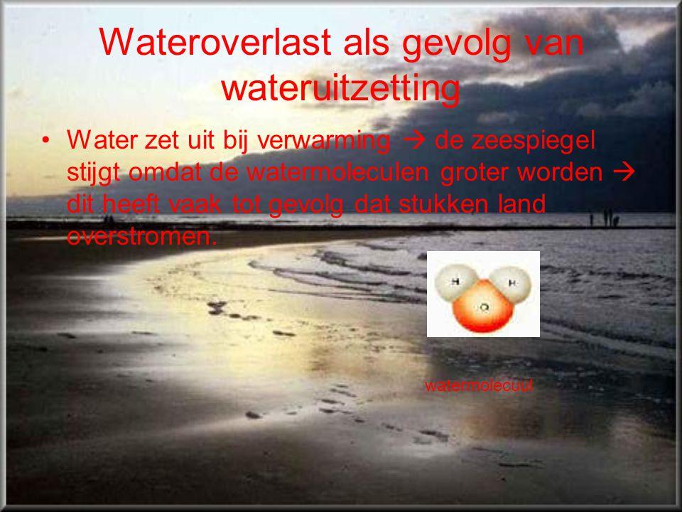 Wateroverlast als gevolg van wateruitzetting