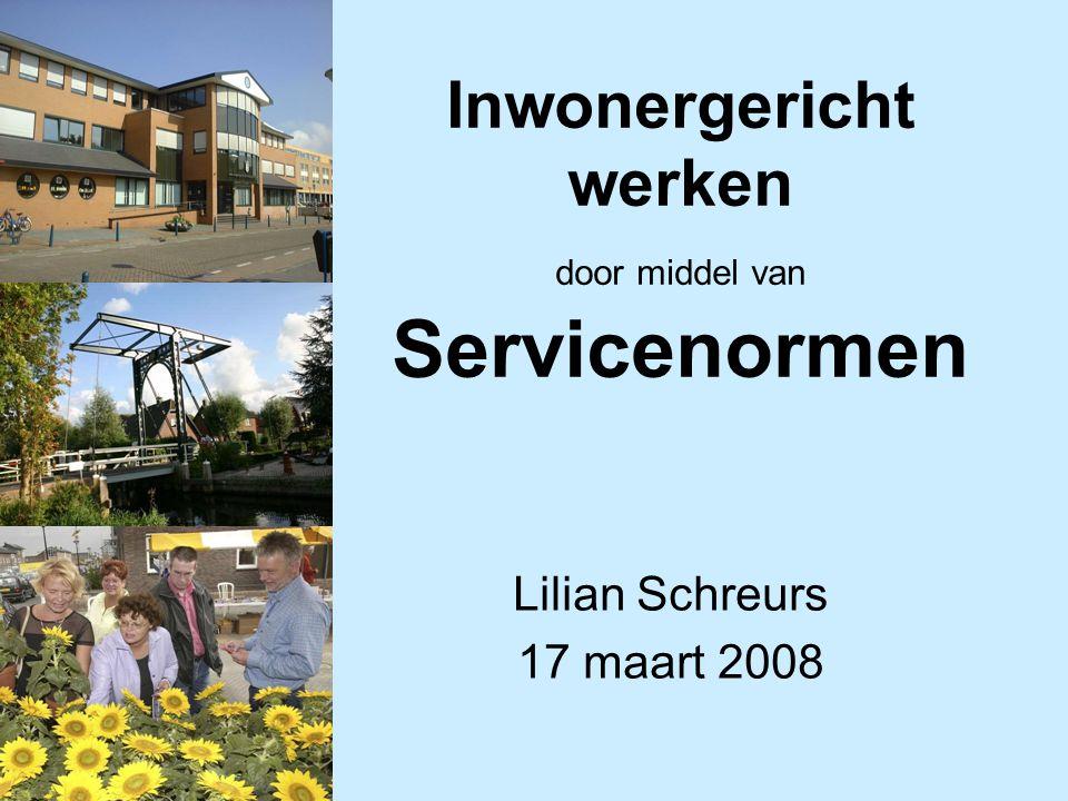 Inwonergericht werken door middel van Servicenormen