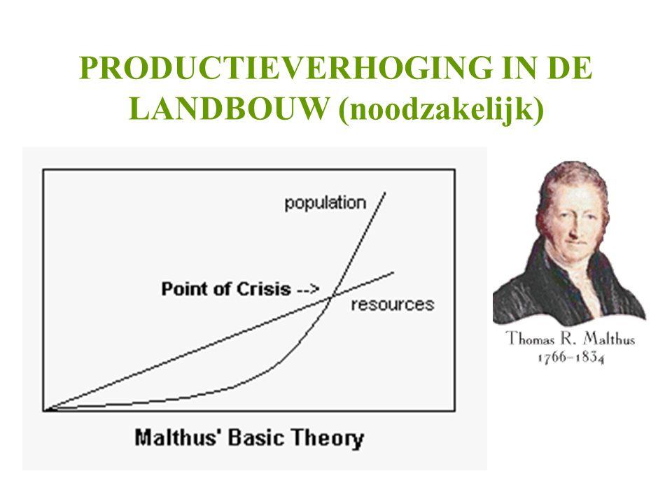 PRODUCTIEVERHOGING IN DE LANDBOUW (noodzakelijk)