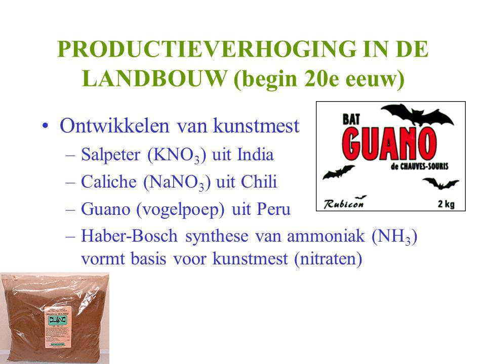 PRODUCTIEVERHOGING IN DE LANDBOUW (begin 20e eeuw)