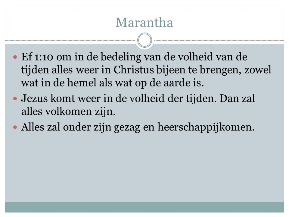 Marantha