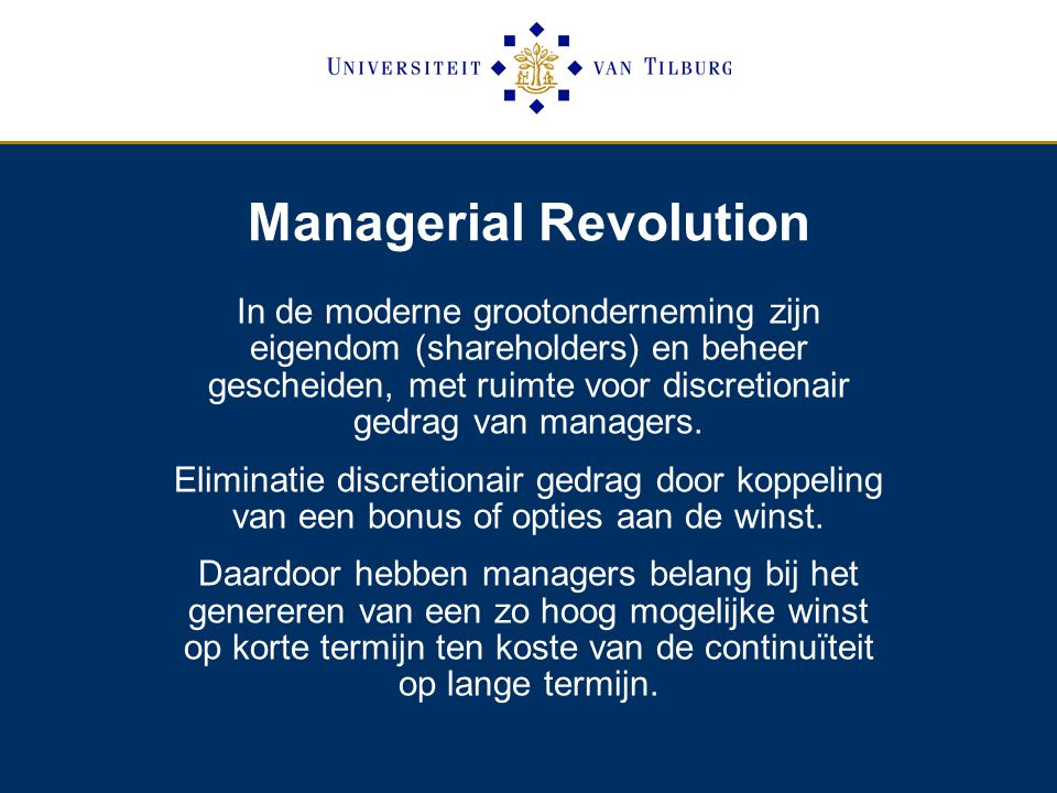 Managerial Revolution