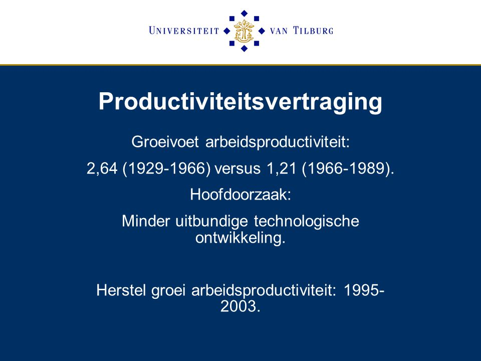 Productiviteitsvertraging