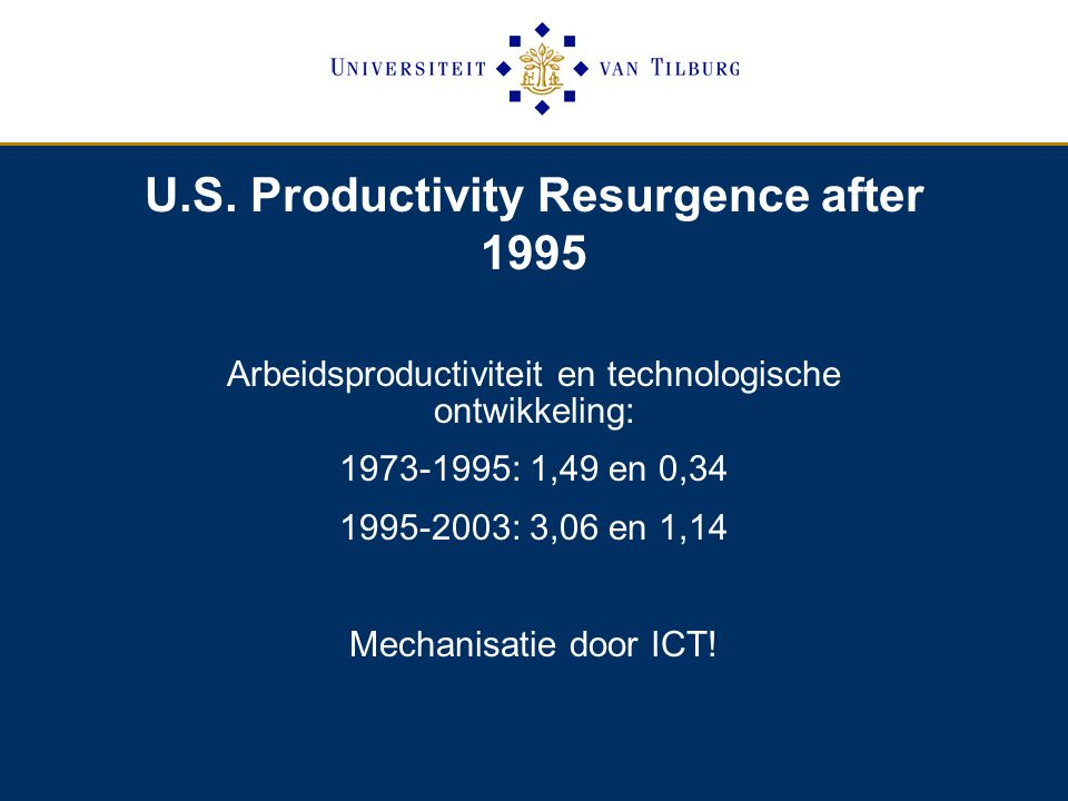 U.S. Productivity Resurgence after 1995