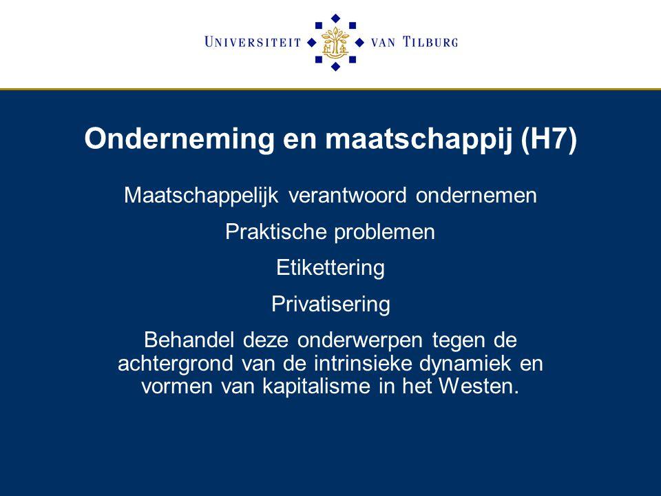 Onderneming en maatschappij (H7)