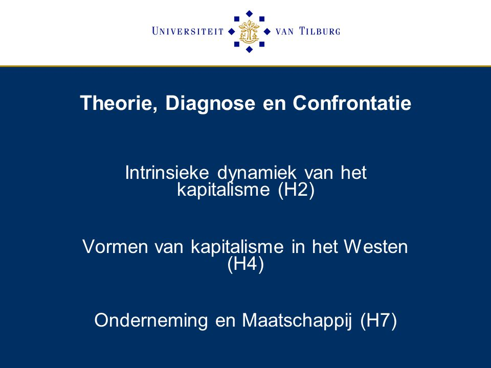Theorie, Diagnose en Confrontatie