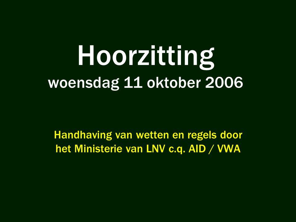 Hoorzitting woensdag 11 oktober 2006