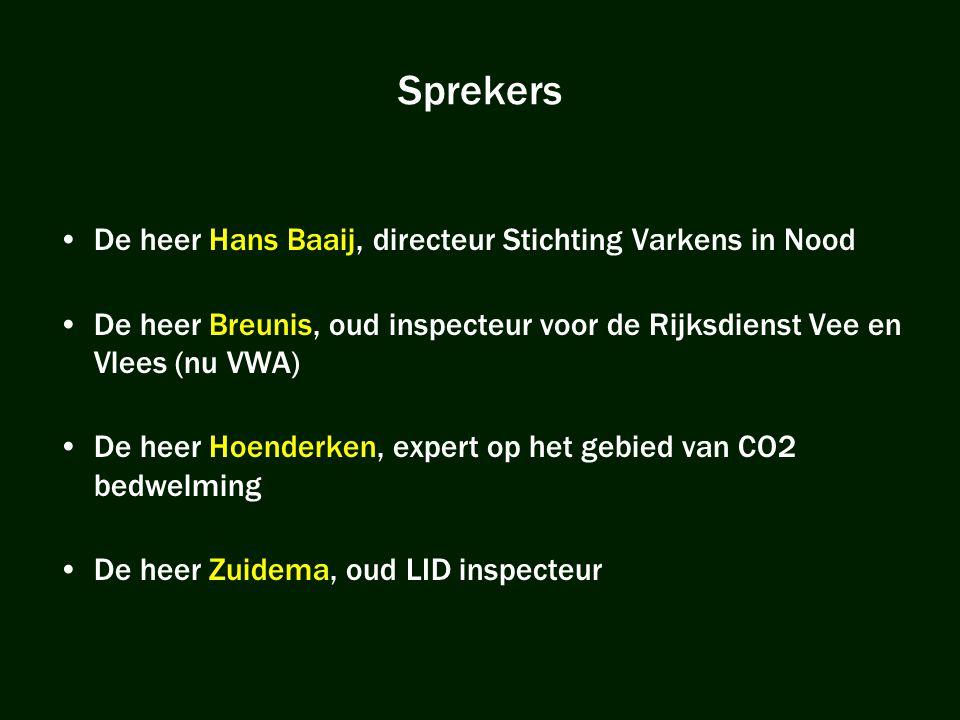 Sprekers De heer Hans Baaij, directeur Stichting Varkens in Nood