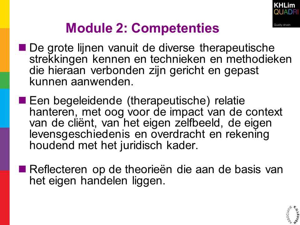 Module 2: Competenties