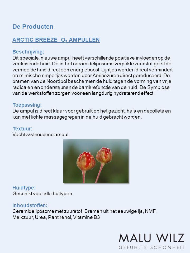 De Producten ARCTIC BREEZE O2 AMPULLEN Beschrijving: