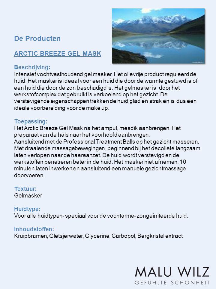 De Producten ARCTIC BREEZE GEL MASK Beschrijving: