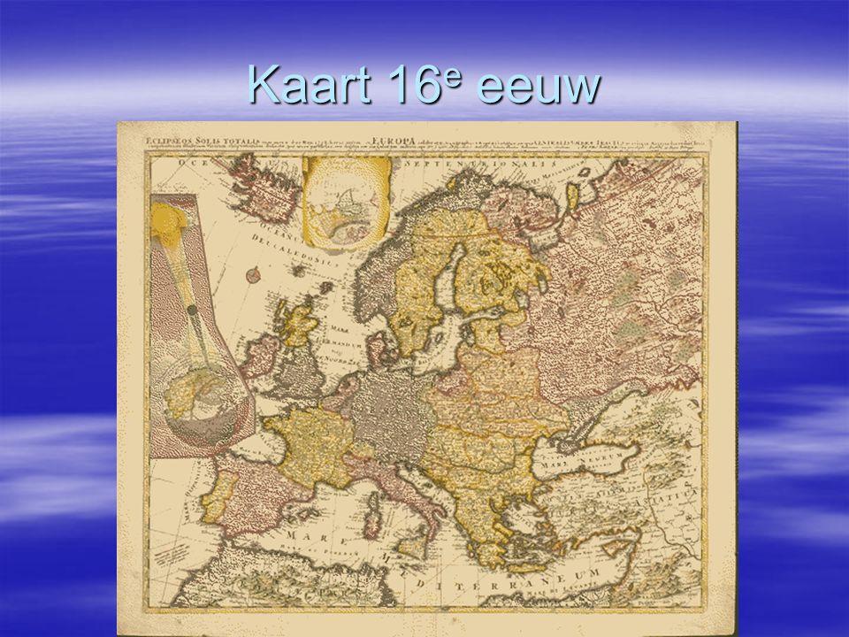 Kaart 16e eeuw