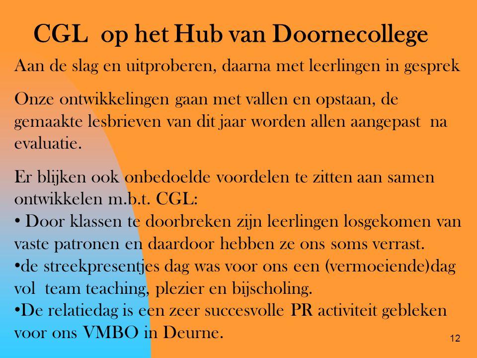 CGL op het Hub van Doornecollege