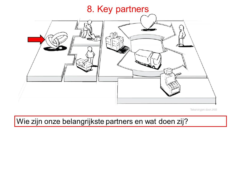 8. Key partners Wie zijn onze belangrijkste partners en wat doen zij