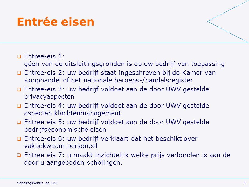 Entrée eisen Entree-eis 1: géén van de uitsluitingsgronden is op uw bedrijf van toepassing.