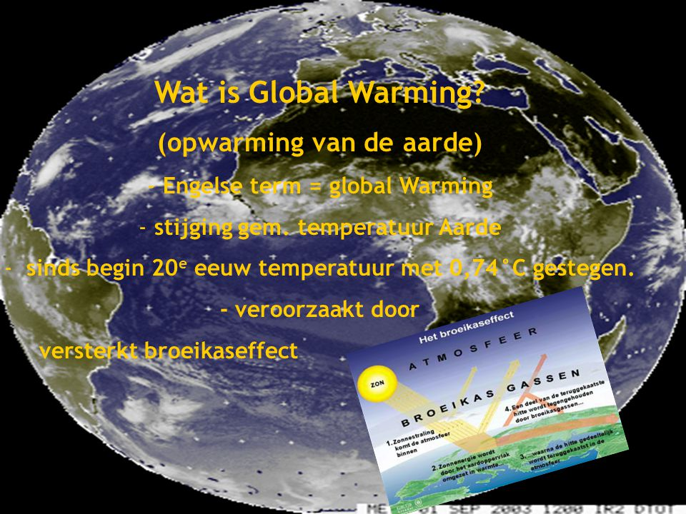 Global Warming Wat is Global Warming Gemaakt door: