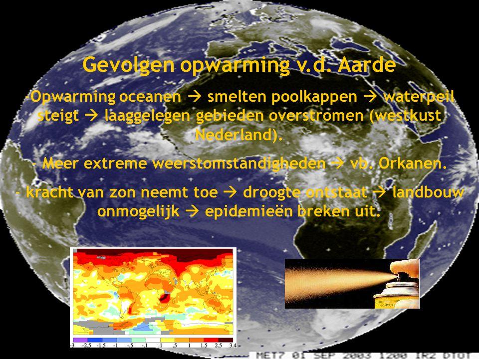 Global Warming Gevolgen opwarming v.d. Aarde Gemaakt door: