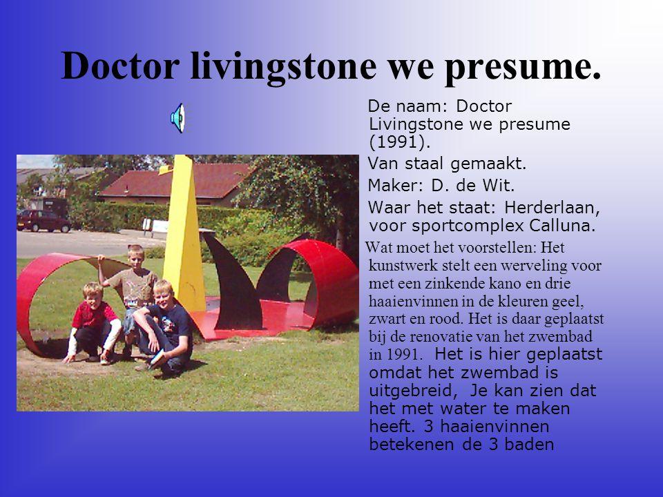 Doctor livingstone we presume.