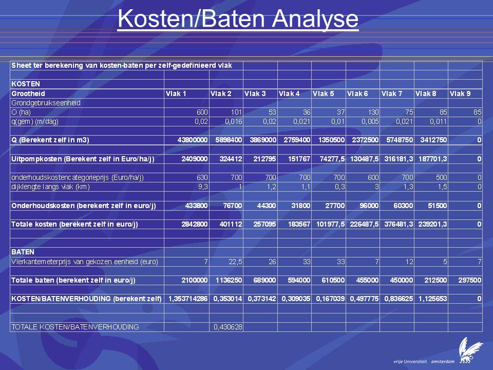 Kosten/Baten Analyse