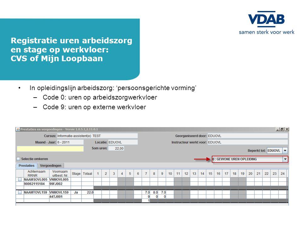 Registratie uren arbeidszorg en stage op werkvloer:
