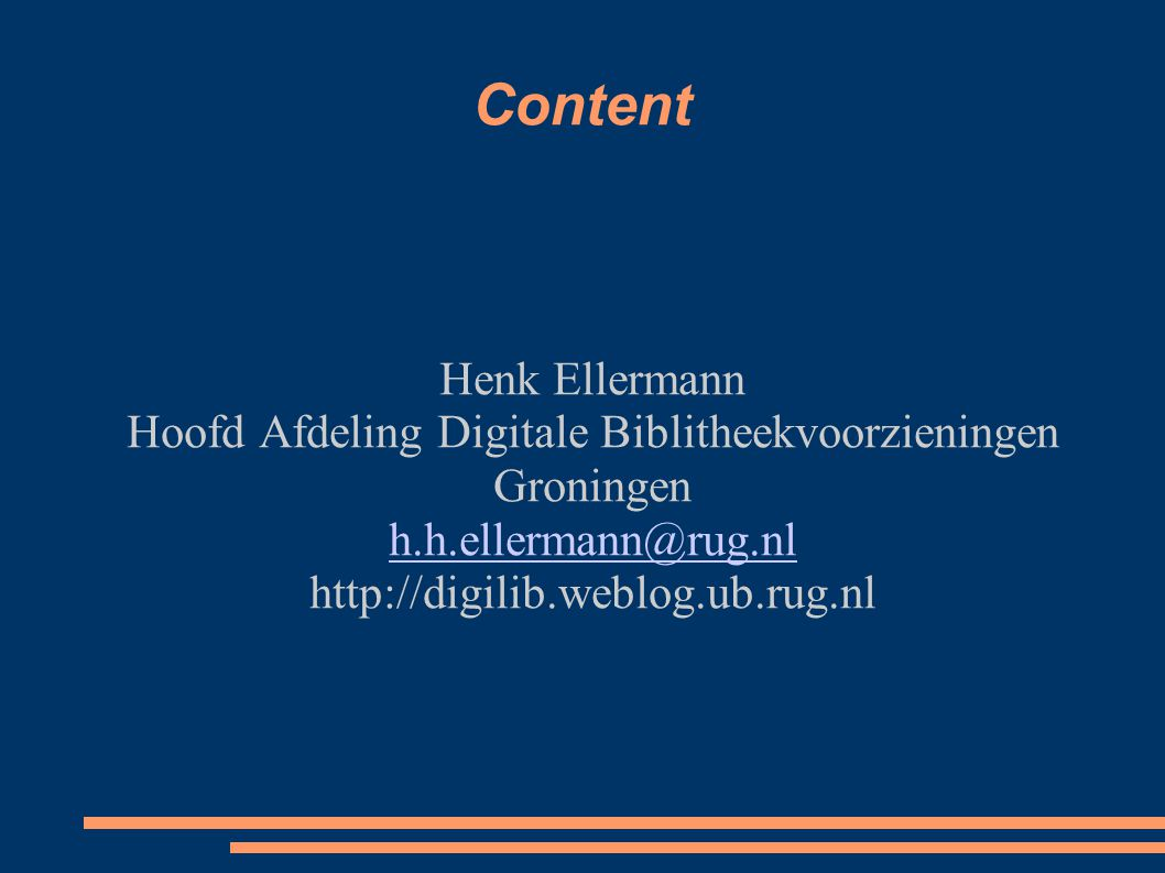 Hoofd Afdeling Digitale Biblitheekvoorzieningen