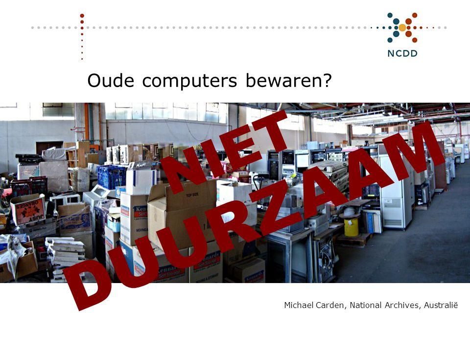 Oude computers bewaren